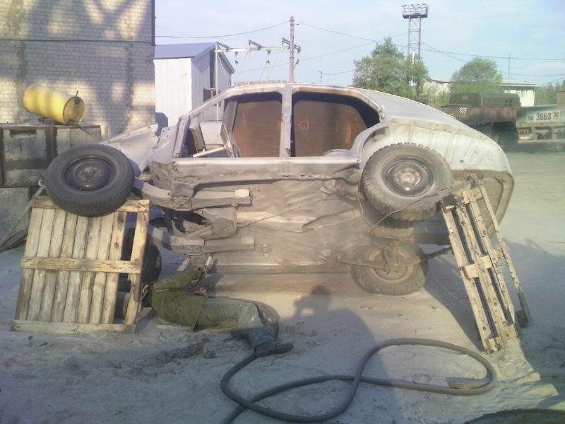 Пескоструй кузова автомобиля своими руками 93